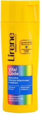 Lirene Vital Code gyengéd vitaminos testápoló tej olajjal