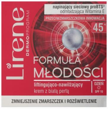 Lirene Youthful Formula 45+ crema de zi pentru lifting cu efect de hidratare 2