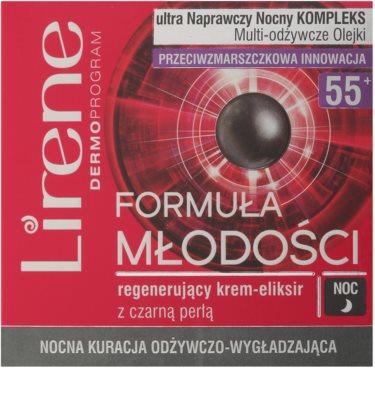 Lirene Youthful Formula 55+ krem regenerujący i przeciwzmarszczkowy na noc 2