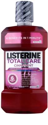 Listerine Total Care Cinnamint ústní voda pro kompletní ochranu zubů 6 v 1
