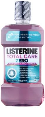 Listerine Total Care Zero ústní voda pro kompletní ochranu zubů a svěží dech bez alkoholu