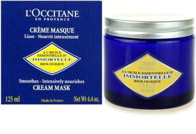 L'Occitane Immortelle Gesichtsmaske für normale und trockene Haut 1