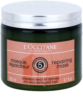 L'Occitane Hair Care regeneráló és hidratáló hajmaszk bambusszal