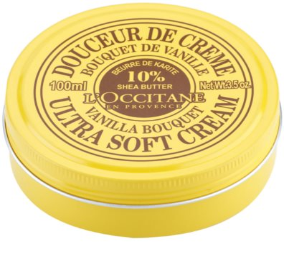 L'Occitane Shea Butter легкий крем для тіла з ваніллю