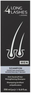 Long 4 Lashes Hair szampon wzmacniający przeciwłupieżowy dla mężczyzn 2