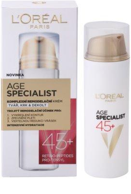 L'Oréal Paris Age Specialist 45+ remodellierungs Creme gegen Falten 3