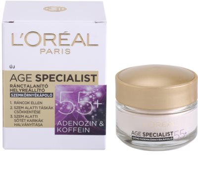 L'Oréal Paris Age Specialist 55+ krema za predel okoli oči proti gubam 2