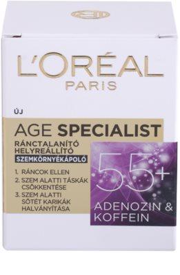 L'Oréal Paris Age Specialist 55+ krema za predel okoli oči proti gubam 3
