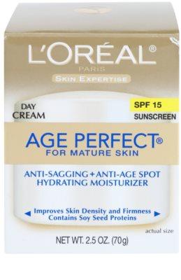 L'Oréal Paris Age Perfect denný hydratačný krém proti starnutiu pleti SPF 15 3