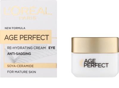 L'Oréal Paris Age Perfect crema hidratante y nutritiva para contorno de ojos para pieles maduras 1