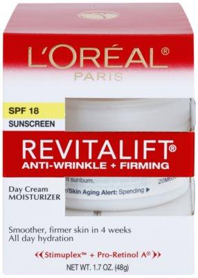 L'Oréal Paris Revitalift Anti-Wrinkle + Firming Anti-Falten Tagescreme SPF 18 2