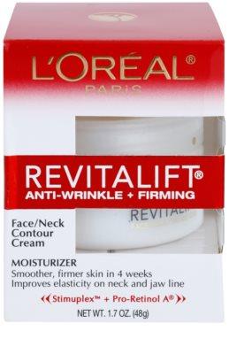 L'Oréal Paris Revitalift Anti-Wrinkle + Firming krem przeciw zmarszczkom do twarzy i szyi 2