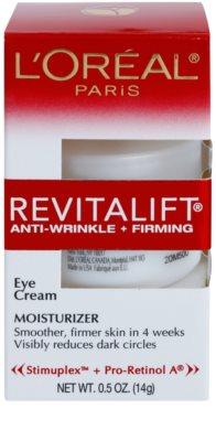 L'Oréal Paris Revitalift Anti-Wrinkle + Firming crema antiarrugas para contorno de ojos 2