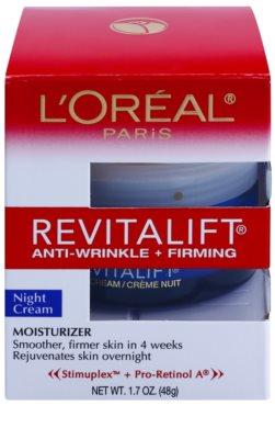 L'Oréal Paris Revitalift Anti-Wrinkle + Firming нощен крем  против бръчки 2