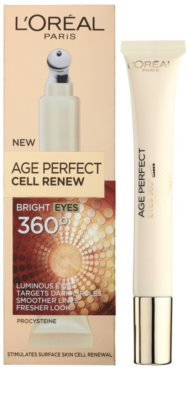 L'Oréal Paris Age Perfect Cell Renew грижа за околоочната зона против бръчки, отоци и тъмни кръгове 1