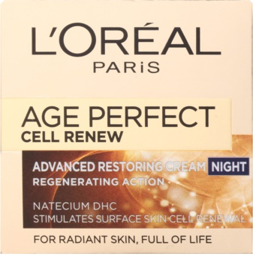 L'Oréal Paris Age Perfect Cell Renew нощен крем  за подновяване на кожните клетки 2