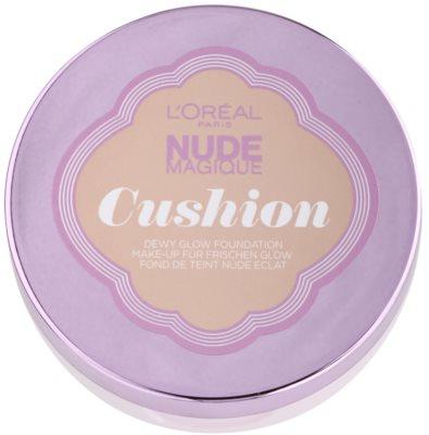 L'Oréal Paris Nude Magique Cushion maquillaje iluminador líquido en esponja 3