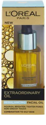 L'Oréal Paris Extraordinary Oil Rebalancing Óleo facial com 8 óleos essenciais para a restauração da perfeição da pele 1