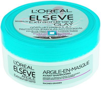 L'Oréal Paris Elseve Extraordinary Clay čistilna maska za hitro mastne lase