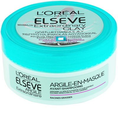 L'Oréal Paris Elseve Extraordinary Clay maseczka oczyszczająca do włosów z tendencją do przetłuszczania się