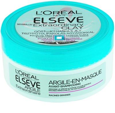 L'Oréal Paris Elseve Extraordinary Clay tisztító maszk a gyorsan zsírosodó hajra