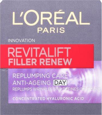 L'Oréal Paris Revitalift Filler Renew крем против бръчки с хиалуронова киселина 2