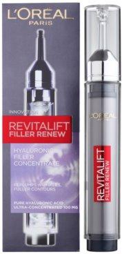 L'Oréal Paris Revitalift Filler Renew concentrado de ácido hialurónico para rellenar las arrugas 1