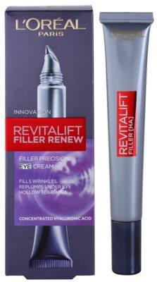 L'Oréal Paris Revitalift Filler крем для шкіри навколо очей проти глибоких  зморшок 1
