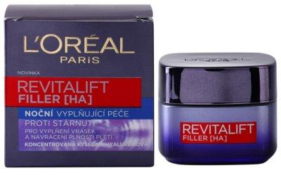 L'Oréal Paris Revitalift Filler krem wypełniający zmarszczki na noc przeciw starzeniu się 2