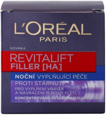 L'Oréal Paris Revitalift Filler krem wypełniający zmarszczki na noc przeciw starzeniu się 3