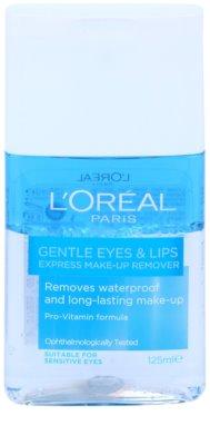 L'Oréal Paris Gentle płyn do demakijażu oczu i ust dla cery wrażliwej