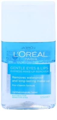 L'Oréal Paris Gentle szem és szájlemosó az érzékeny arcbőrre