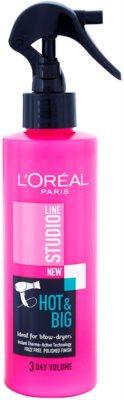 L'Oréal Paris Studio Line Hot & Big spray fixativ cu protectie termica efect de volum