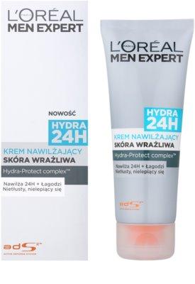 L'Oréal Paris Men Expert Hydra 24H hydratační krém pro citlivou pleť 1