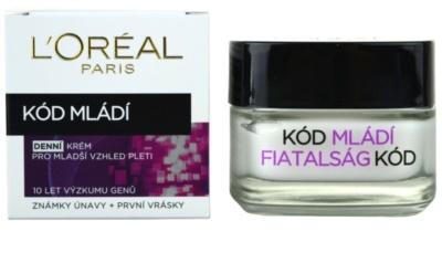 L'Oréal Paris Youth Code denní protivráskový krém pro všechny typy pleti 1