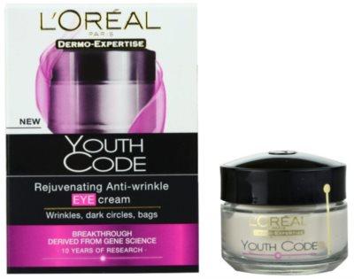 L'Oréal Paris Youth Code krema proti gubam za predel okoli oči za vse tipe kože 1