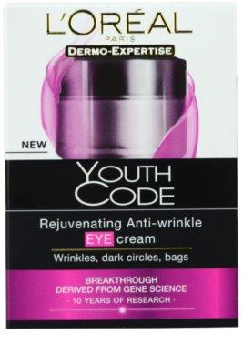 L'Oréal Paris Youth Code krema proti gubam za predel okoli oči za vse tipe kože 2