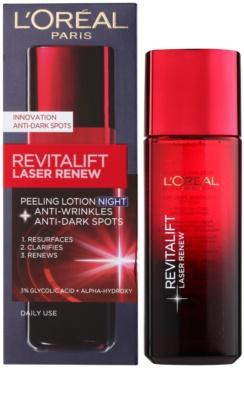 L'Oréal Paris Revitalift Laser Renew creme de noite antirrugas com efeito peeling 1