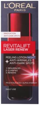 L'Oréal Paris Revitalift Laser Renew нощен крем против бръчки  с пилинг ефект 2