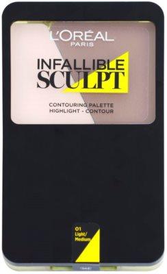 L'Oréal Paris Infallible Sculpt paleta pentru contur facial 1