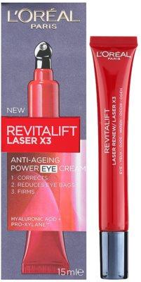 L'Oréal Paris Revitalift Laser X3 Augenpflege gegen Falten, Schwellungen und Augenringe 1