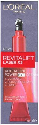 L'Oréal Paris Revitalift Laser X3 Augenpflege gegen Falten, Schwellungen und Augenringe 2