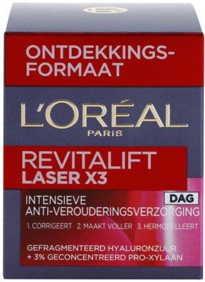 L'Oréal Paris Revitalift Laser X3 дневен крем  против стареене на кожата 3