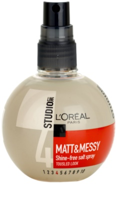 L'Oréal Paris Studio Line Matt & Messy salziges Spray für einen Strandeffekt 1