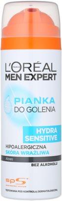 L'Oréal Paris Men Expert Hydra Sensitive pěna na holení bez alkoholu