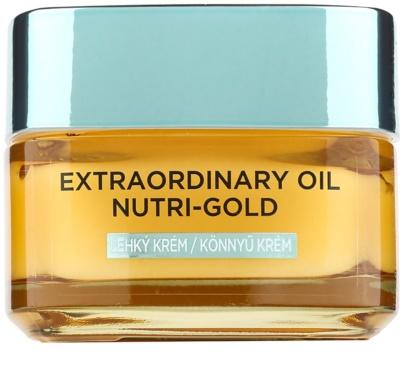 L'Oréal Paris Extraordinary Oil Nutri-Gold leichte nährende Öl-Creme