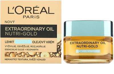 L'Oréal Paris Extraordinary Oil Nutri-Gold leichte nährende Öl-Creme 1