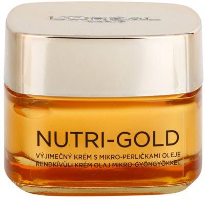 L'Oréal Paris Nutri-Gold creme nutritivo com micropérolas de óleo