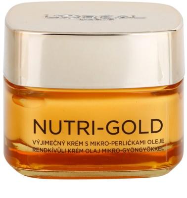 L'Oréal Paris Nutri-Gold hranilna krema z mikro biseri olja