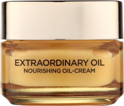 L'Oréal Paris Extraordinary Oil Cremă nutritivă cu ulei semne de oboseala